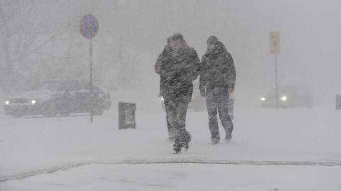 På fredagen väntas ett rikligt snöfall över Västsverige med 10-15 centimeter snö. Foto: Stefan Söderström