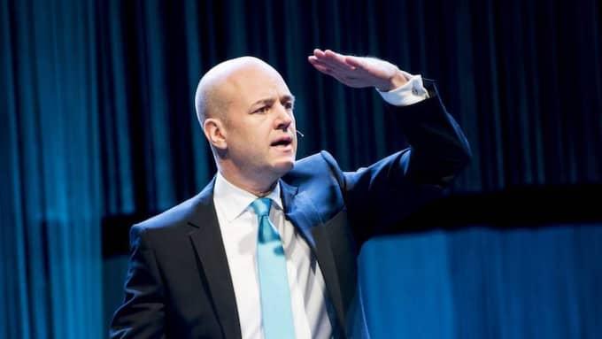 Fredrik Reinfeldt under sitt tal. Foto: Jens L'Estrade
