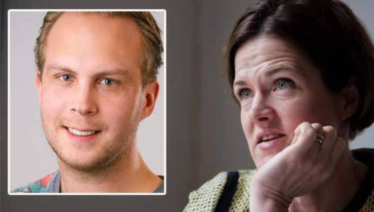 Rasmus Törnblom, MUF:s förbundsordförande, och Anna Kinberg Batra, Moderaternas partiledare. Foto: Jonas Loveus/Lisa Mattisson