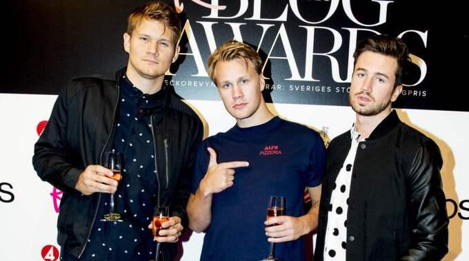 Johan Gunterberg (till vänster) i humorgruppen De vet du Foto: Jens L'Estrade