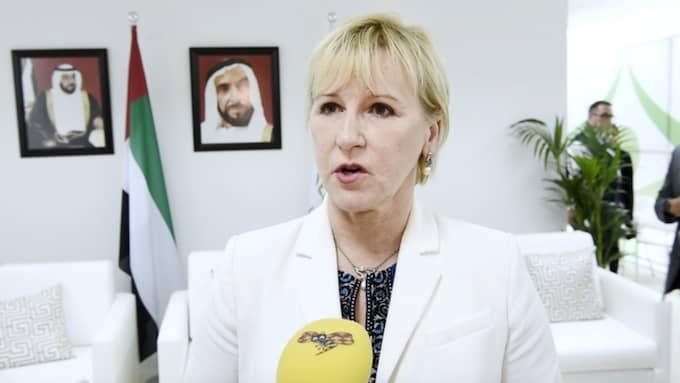 Utrikesminister Margot Wallström. Foto: Sven Lindwall