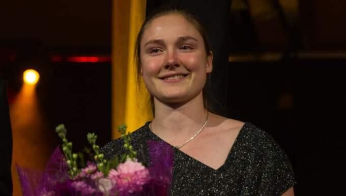 Elise Malmberg, 20, fick priset som årets idrottsprofil. Foto: Peo Möller
