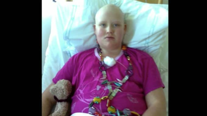 Olivia dog i leukemi för sex år sedan. Foto: Kanal 5