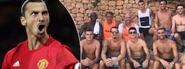 Nya bilden på Zlatan från stjärnsemestern