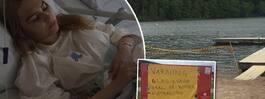 Familjens varning efter Emmas skada vid badet