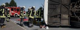 Stor bussolycka i Tyskland - över 40 skadade