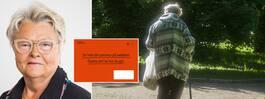 100 000-tals svenskar har för låga pensioner