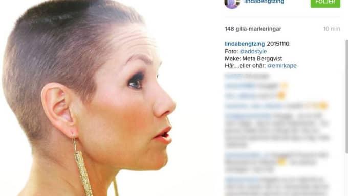 Hon visade upp sin nya frisyr på Instagram.