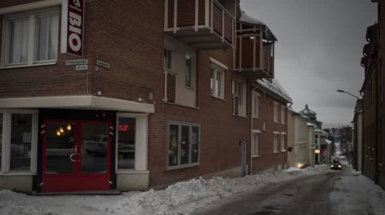 Här blev en kvinna blev utsatt för ett våldtäktsförsök av tre män för en och en halv vecka sedan. Det är bara en av 14 anmälningar om övergrepp i Östersund sedan februari. Foto: Meli Petersson Ellafi