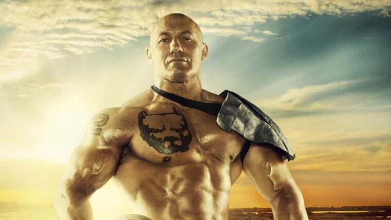 """Den mäktige gladiatorn """"Hero"""" pillade in sig några värktabletter och krigade på - trots ett krossat vadben som lappades ihop med en inopererad skruv. Foto: Jonatan Qvist /Tv4"""