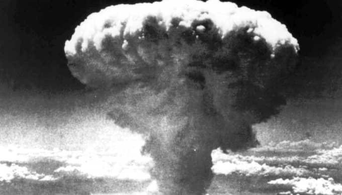 Kärnvapensprängning i Nagasaki.