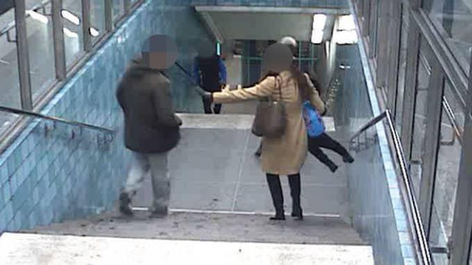 Mannen spottade även småbarnsmamman i ansiktet. Foto: Polisen