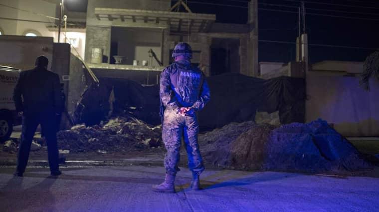 Efter en skottlossning, där fem personer dödades och en marinsoldat blev skadad, kunde polisen gripa Joaquín Guzmán på fredagen. Foto: Christian Palma