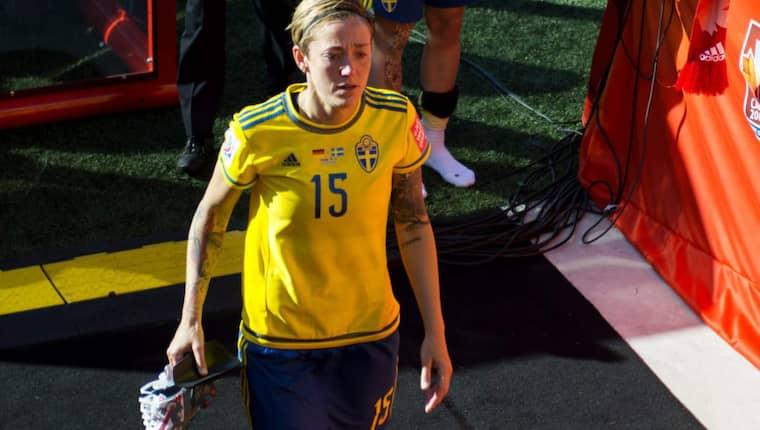 I somras spelade Therese Sjögran VM... nu spelar hon Korpen. Foto: Carl Sandin