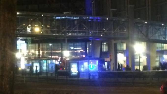 Våning 17 och 18 utrymdes på Gothia Towers efter larm om klorgas. Foto: Läsarbild