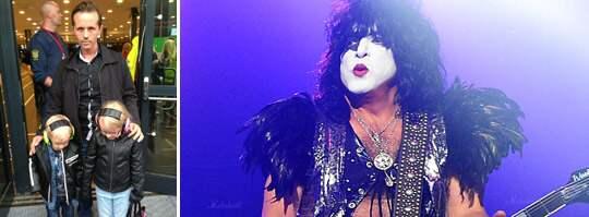 """Lars Lindh hade sett fram emot att se Kiss spelning på Friends arena med sina barn Melker och Hilma - men stoppades i dörren då barnen var för unga. """"Melker bröt ihop när han insåg att det inte skulle bli någon konsert"""", säger Lars Lindh till Expressen. Foto: AP/Privat"""