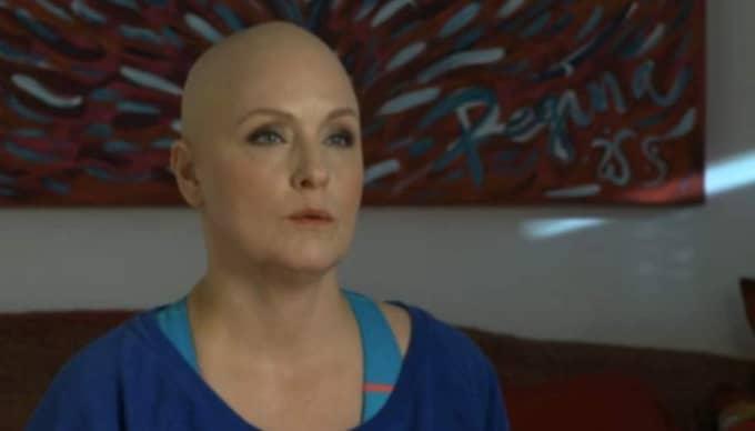 """Regina Lund gör film för att stötta andra cancersjuka: """"Glad att jag vågade."""" Foto: Cancerfonden"""
