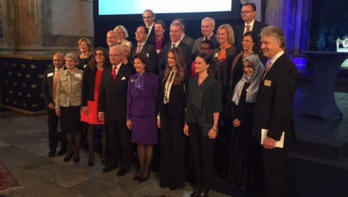 Här är en bild från World Child Forum i dag, där kungen och Silvia deltar. Foto: Johan T Lindwall