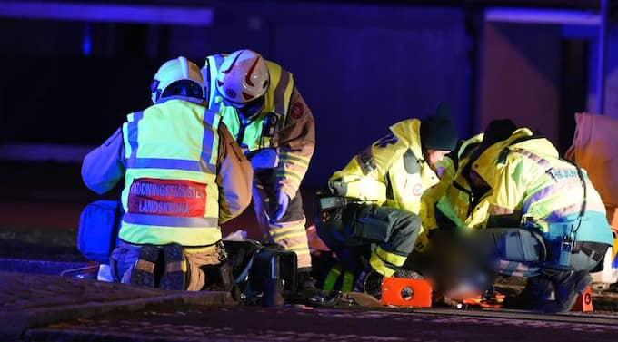 Det var på ett övergångsställe som två personer blev påkörda av en polisbil. Foto: André Tajti