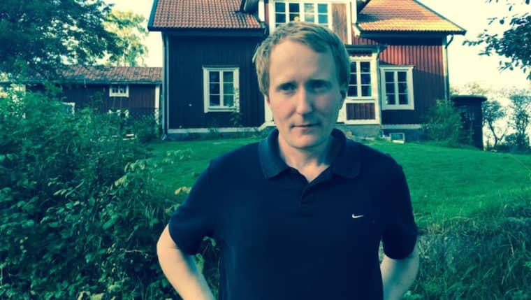 Gustaf Söderfeldt, före detta grisbonde. Foto: Privat