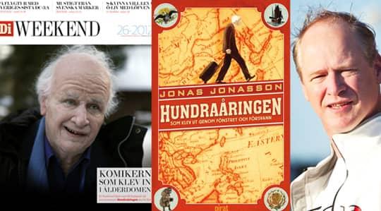 DI Weekend i dag. Första bilden på Robert Gustafsson som Hundraåringen.