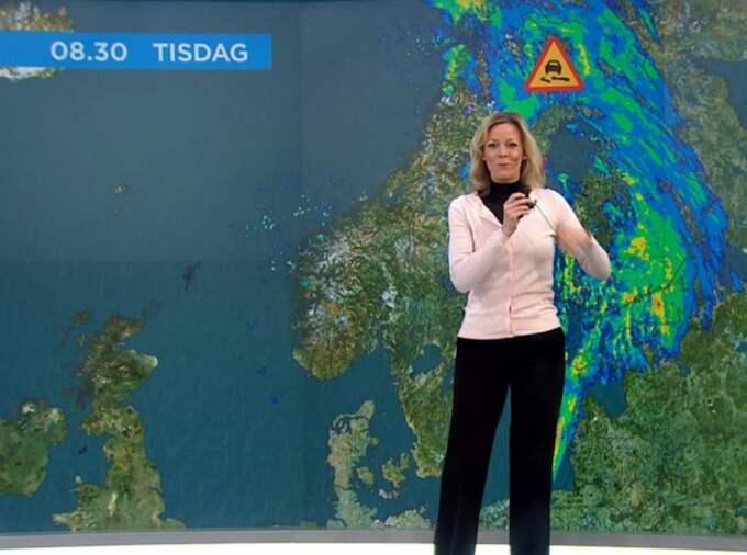 Vädersändningen i TV4 fick akut ljudkaos.