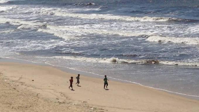 Bilden på de lekande pojkarna togs av Expressens Kassem Hamadé. Foto: Kassem Hamadé