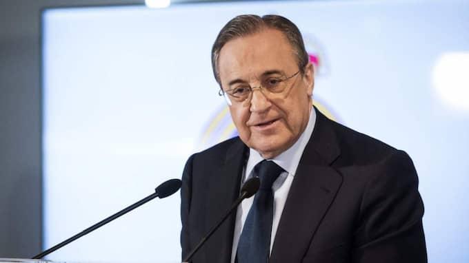 Real Madrids ordförande Florentino Perez. Foto: Luca Piergiovanni / Epa / Tt