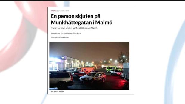 Person skottskadad i Malmö - samma brottsplats som vid tidigare skjutning