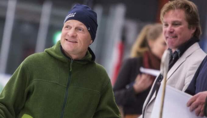 Tränaren. Pelle Fosshaug med Patrik Andersson, initiativtagare. Foto: Henrik Hansson