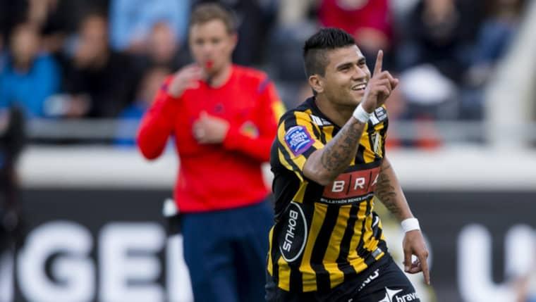 Paulinho blev målskytt för Häcken. Foto: Michael Erichsen