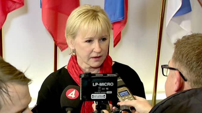 """""""Varsågod och undersök! Jag vet precis vad jag har sagt och gjort"""", säger Margot Wallström. Foto: TT"""