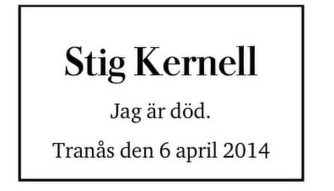 Före sin död gick Stig in till begravningsbyrån och föreslog sin egen dödsannons. Foto: Privat.