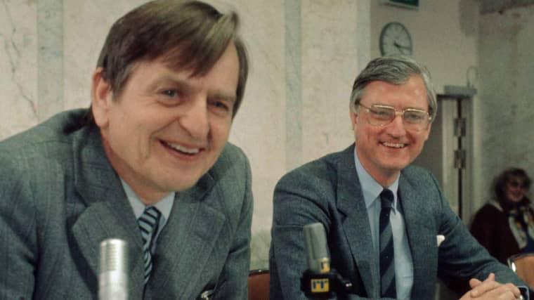 Sten Wickbom tillsammans med Olof Plame. Foto: Bengt O Nordin Bon