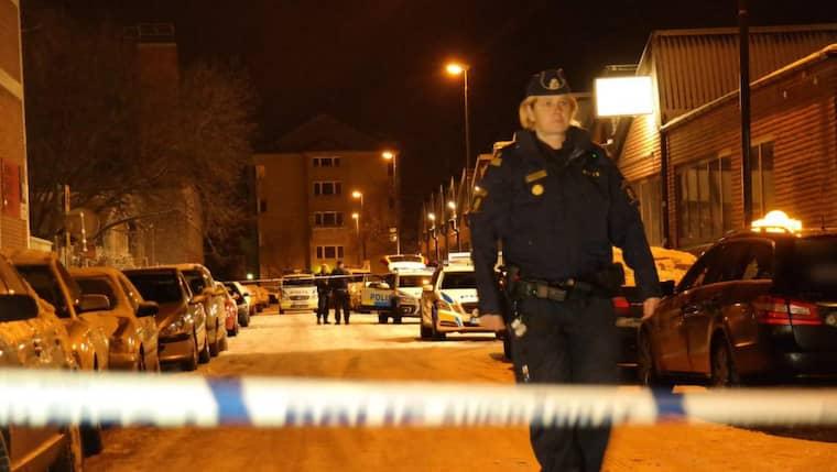 En man hittades skjuten vid 20-tiden på juldagskvällen vid ett industriområde i Malmö. Foto: Mikael Nilsson