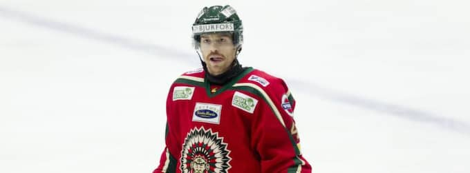 Kanadensaren Doug Lynch kan snart ha spelat färdigt för Frölunda. I sönddagens match är han utanför laget. Foto: Lennart Rehnman