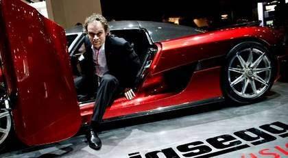 Norske mångmiljonären Bård Eker äger 49 procent av Koenigsegg och har pekats ut som en stor Saab-entusiast och i flera intervjuer under hösten har han sagt att hans dröm är att köpa Saab. Foto: Mikaela Berg