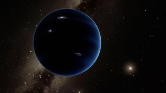Enligt forskarna är den nionde planeten en gigantisk isplanet långt utanför Plutos bana. Foto: Caltech/R. Hurt