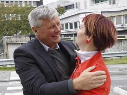 ars Ohly och Åsa Hagelstedt röstade tillsammans. Foto: MARTINA HUBER