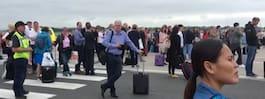 Manchesters flygplats utrymd – bombgruppen kontrollerar väska