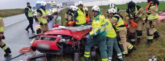 Bilden från olyckan i oktober 2014. Foto: POLISEN