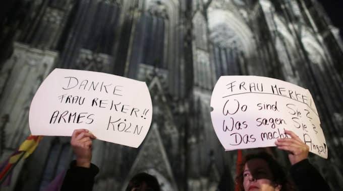 Protester i Tyskland. Foto: Oliver Berg / Epa / Tt