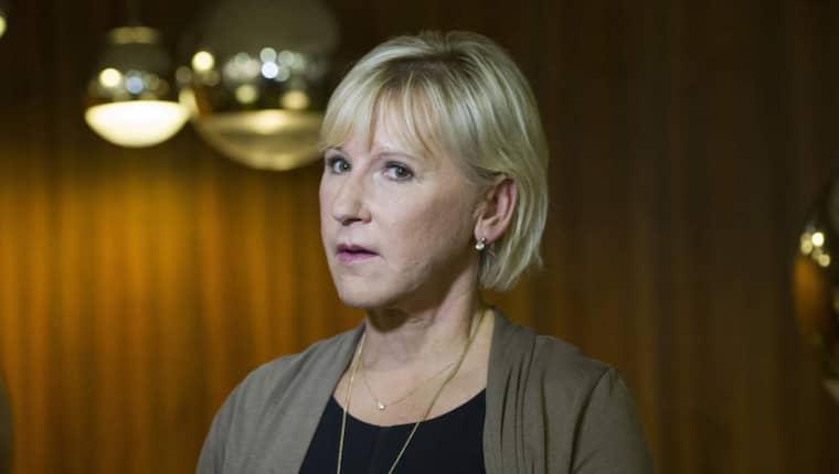 Tjänstemän i regeringskansliet anklagar utrikesminister Margot Wallström för att ha lagt sig platt för Vladimir Putin och Moskva. Foto: Sara Strandlund