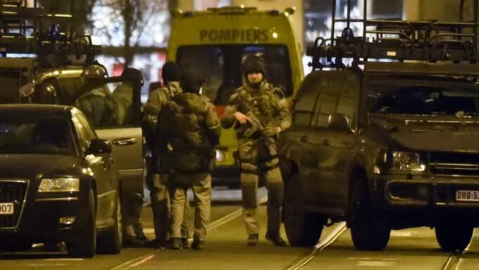 Mannen sköts ihjäl vid ett tillslag i Bryssel på tisdagen. Foto: Geert Vanden Wijngaert / AP TT NYHETSBYRÅN
