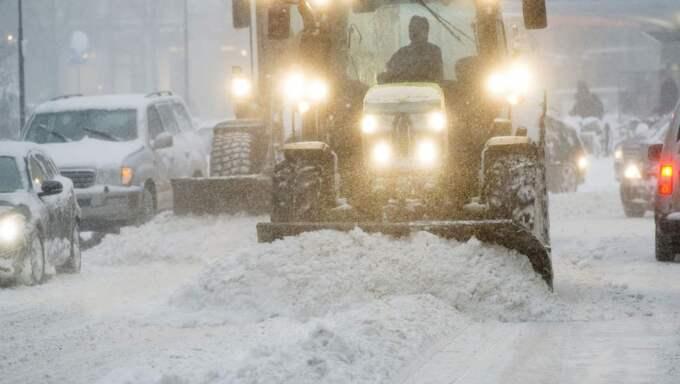 På måndagen väntas nya snöfall i stora delar av landet. Foto: Stefan Söderström