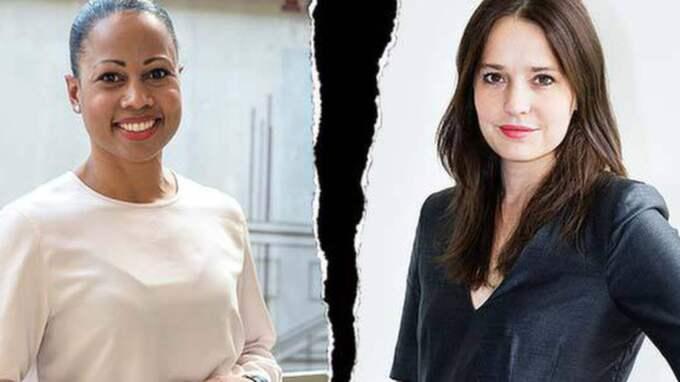 Kulturminister Alice Bah Kuhnke (MP) och Expressens Karin Olsson.