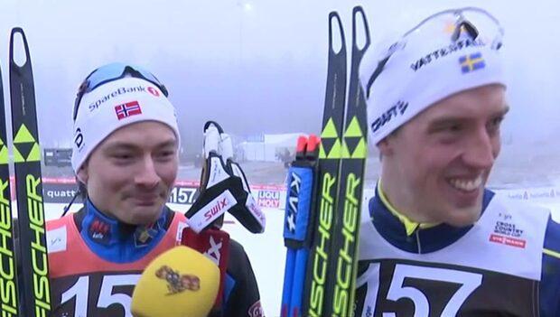 Här kraschar Finn Hågen Krogh intervjun med Calle Halfvarsson