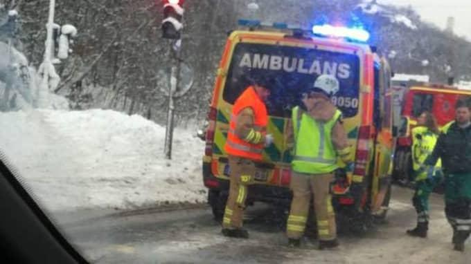 En man fördes till Sahlgrenska med ambulanshelikopter, men hans liv gick inte att rädda. Foto: Läsarbild/71717