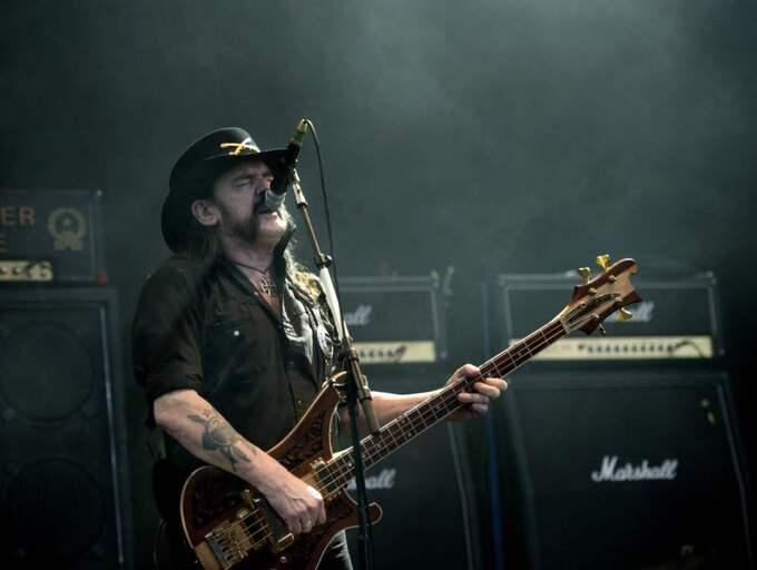 Ian Lemmy Kilmister, Motörheads sångare, dog kort efter sin cancerdiagnos. Den 29 december gick rockikonen bort i sitt hem omgiven av sin familj. Han blev 70 år gammal. Foto: Ludvig Thunman