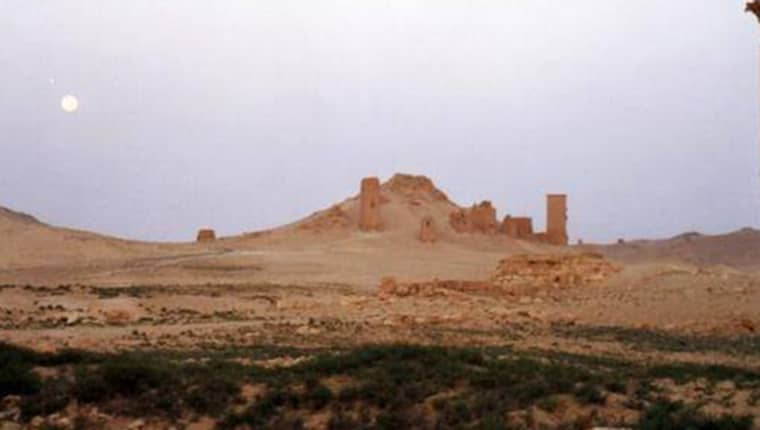 BEFORE: The 2 000-year-old tower tombs.